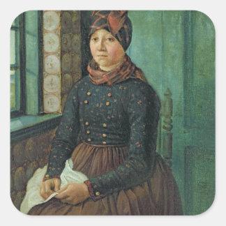 Girl from Fano, 1834 Square Sticker
