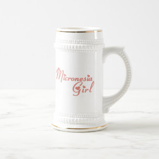 Girl from Micronesia 18 Oz Beer Stein