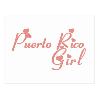 Girl from Puerto Rico Postcard