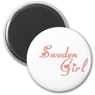 Girl from Sweden 2 Inch Round Magnet