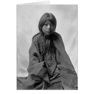 Girl from Taos Pueblo Card