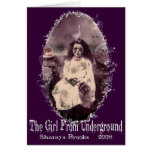 Girl From Underground Notecard Greeting Card