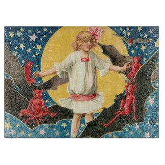 Girl Full Moon Demon Bat Stars