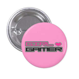 Girl Gamer Button