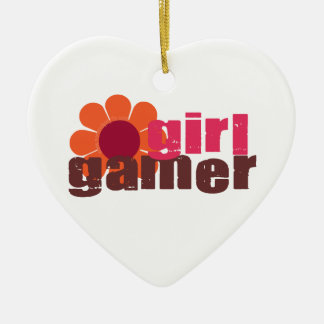 Girl Gamer Ceramic Ornament