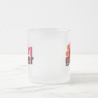 Girl Gamer Frosted Glass Coffee Mug