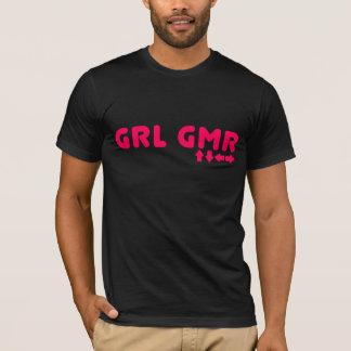 Girl Gamer - GRL GMR Video Games Geek Gaming T-Shirt