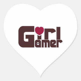 Girl Gamer Heart Sticker