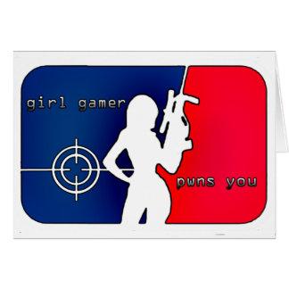 Girl Gamer Pwns You! Card