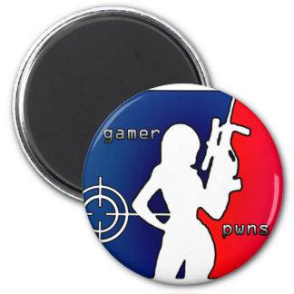 Girl Gamer Pwns You! Magnet