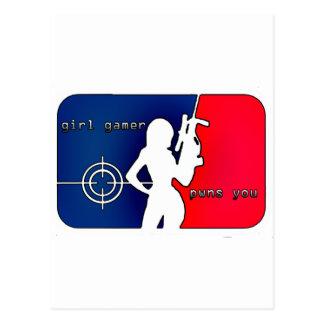 Girl Gamer Pwns You! Postcard