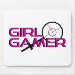 Girl Gamer Sniper Mouse Pads