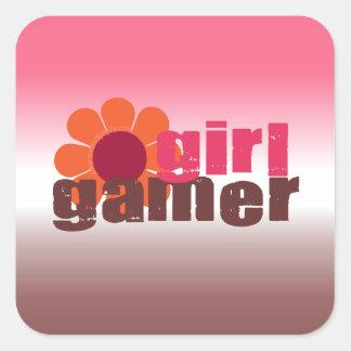 Girl Gamer Square Sticker