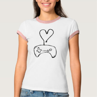 Girl Gamer T-Shirt with Controller
