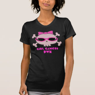 Girl Gamers pwn Skull With Sunglasses Tshirts