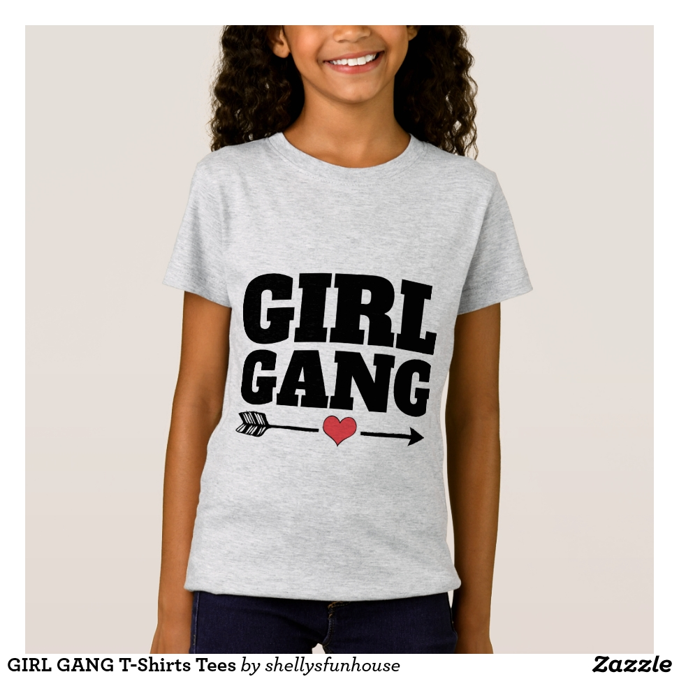 GIRL GANG T-Shirts Tees - Best Selling Long-Sleeve Street Fashion Shirt Designs