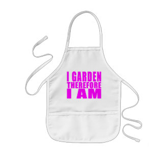 Girl Gardening : I Garden Therefore I Am Kids' Apron