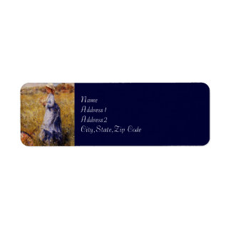 Girl Gathering Flowers by Renoir Label