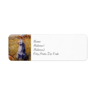 Girl Gathering Flowers by Renoir Return Address Label