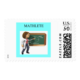 girl geek math goddess postage