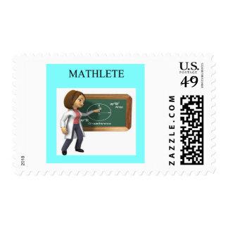 girl geek math goddess postage stamp