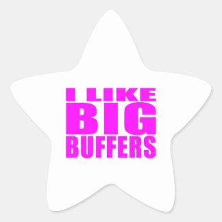 Girl Geeks Nerds IT : I Like Big Buffers Star Sticker