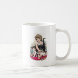 Girl Gets Grip on Kitty Coffee Mug
