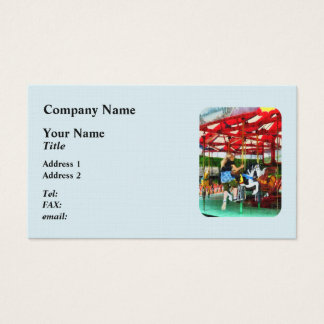 Girl Getting on Merry-Go-Round Business Card