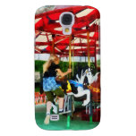 Girl Getting on Merry-Go-Round Samsung Galaxy S4 Covers