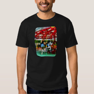 Girl Getting on Merry-Go-Round Shirts