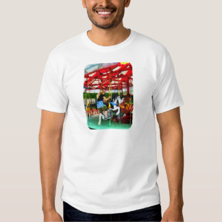 Girl Getting on Merry-Go-Round Tee Shirt