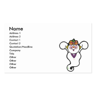 girl ghost business card templates