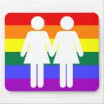 Girl + Girl Rainbow Mousepad