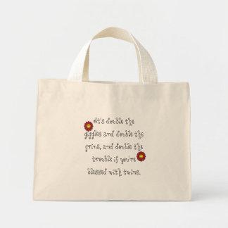 Girl, Girl Twin Giggles Canvas Bag
