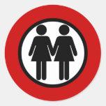 Girl + Girls Red Sticker