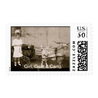 Girl, Goat & Cart Postage