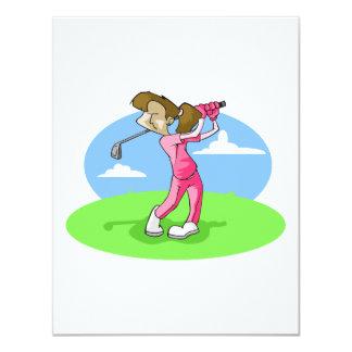 girl golfer card