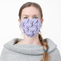 Girl Golfer Design Face Mask