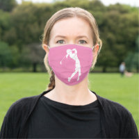 Girl Golfer Design Face Mask