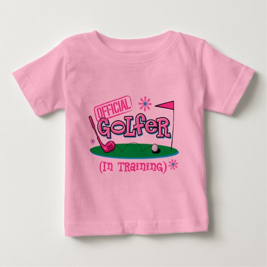 Girl Golfer In Training Baby T-Shirt