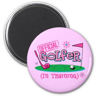 Girl Golfer In Training Magnets