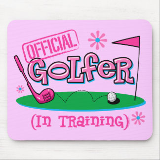 Girl Golfer In Training Mouse Pad