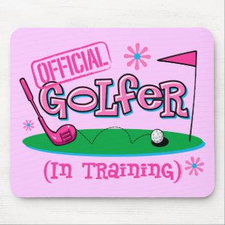 Girl Golfer In Training Mousepads