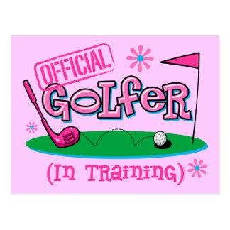 Girl Golfer In Training Postcard