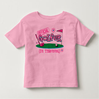 Girl Golfer In Training Toddler T-shirt