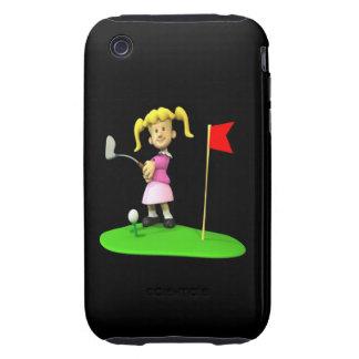 Girl Golfer iPhone 3 Tough Case