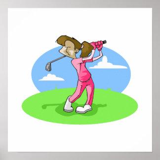 girl golfer poster