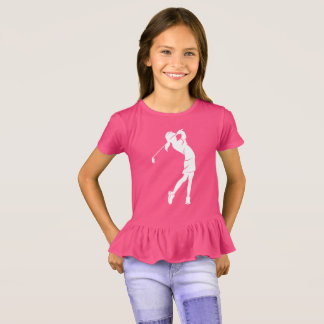 Girl Golfer Swinging an Iron T-Shirt