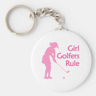 Girl Golfers Rule Key Chain