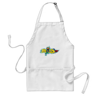 Girl Gone Crazy Wild Graffiti Character Adult Apron